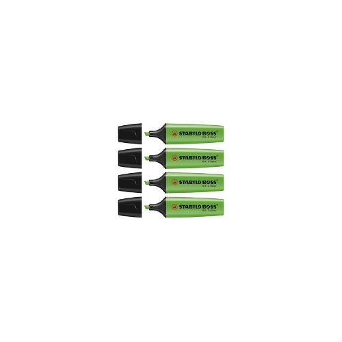 Stabilo Boss Highlighters Green Pack/4