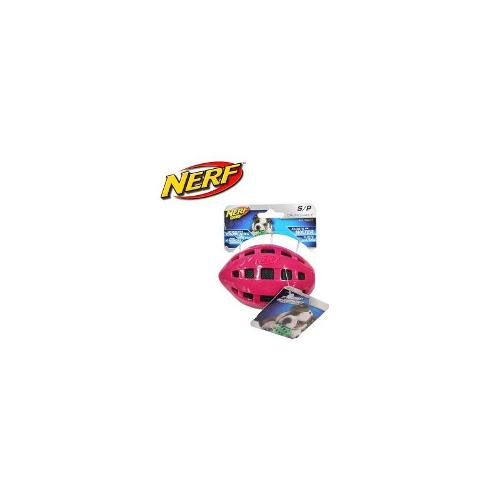 Nerf Dog Crunchable Floating Football Small - Pink
