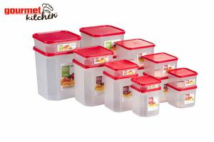 16 Piece Square Modular Food Containers