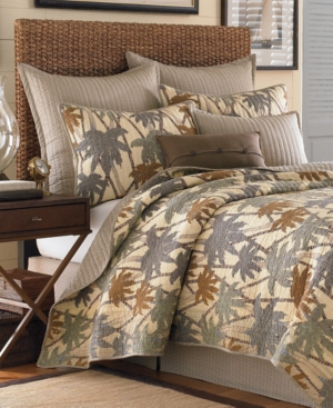 "Tommy Bahama Home, Drift Palm Buttoned Hatch 16"" x 20"" Decorative Pillow Bedding"