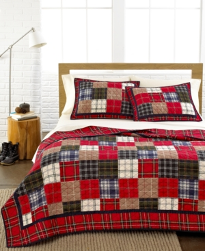 Martha Stewart Collection Bedding, Plaid Patchwork Twin Quilt Bedding