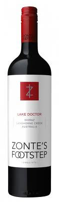 Zonte's Footstep Lake Doctor Vineyard Shiraz 6 X 750ml  - Label