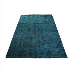 Stoneleigh & Roberson - Hand Knotted Woollen Rug in Turquoise Vintage Look - Rugs