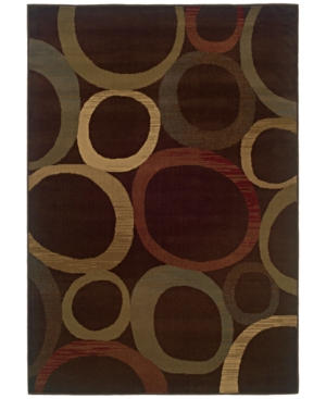 "MANUFACTURER'S CLOSEOUT! Sphinx Area Rug, Tribecca 61T Brown 1'10"" x 2'10"""