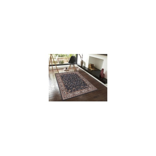 Traditional All over Design Rug Navy 230x160cm
