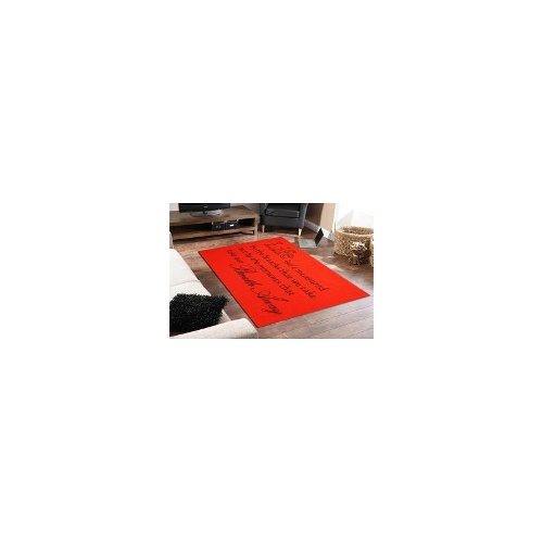 Quotes Rug Breath Away Red 100 x 150cm