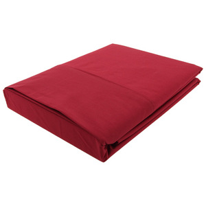 House x Home 250 Thread Count Queen Flat Sheet - Red