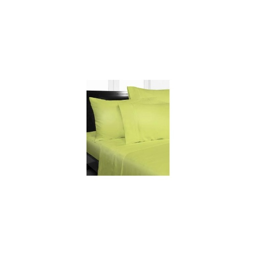 Single Bed Plain Microfiber Fitted Sheet Set - Green