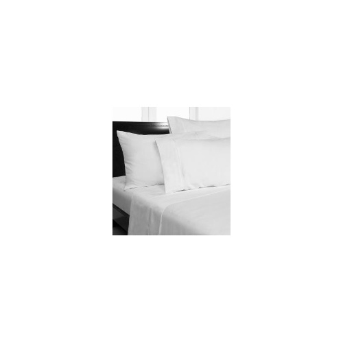 Single Bed Plain Microfiber Fitted Sheet Set - White
