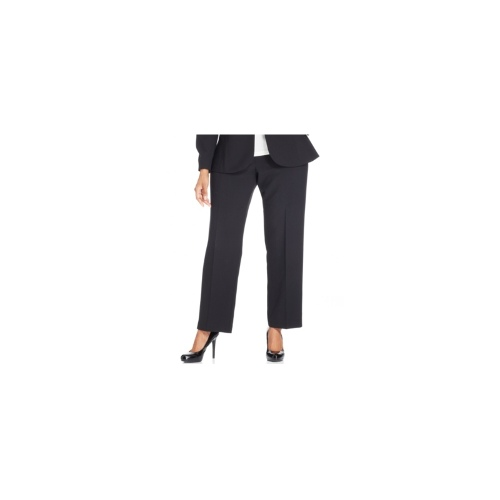 NY Collection Plus Size Pants, Straight-Leg Trousers