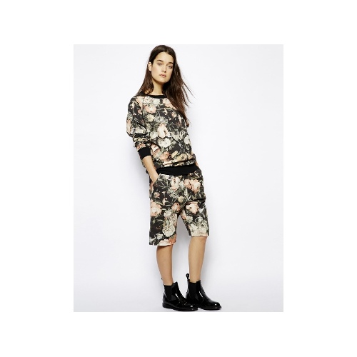 HOUSE of HACKNEY Basketball Short in Floral Jersey
