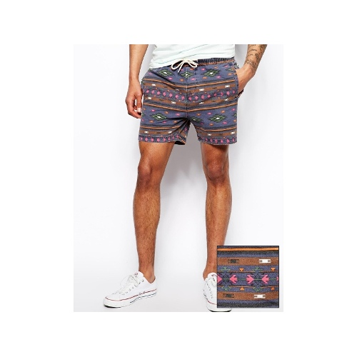 Chino Shorts With Print And Elasticated Waist