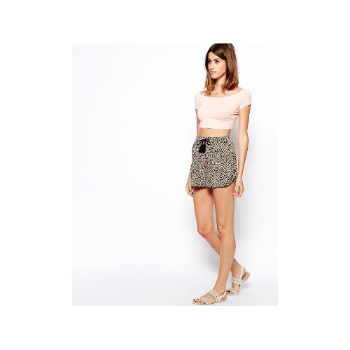 Culotte Shorts in Mini Sunflower with Tassel Tie