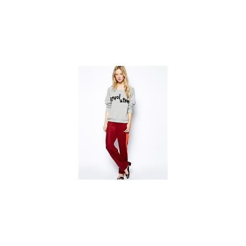 Selected Nemal Peg Trousers with Sporty Stripe - Paprika