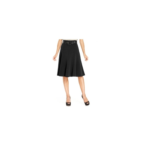 Grace Elements Skirt, Belted A-Line