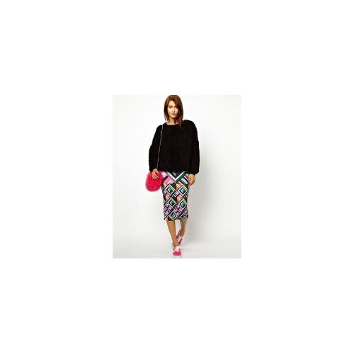 House of Holland Tube Skirt in Patchwork Print - Patchwork