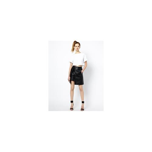 French Connection Nevada Leather Skirt with Split Detail