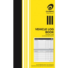 Zions Systems Vehicle Log Book Pocket Size