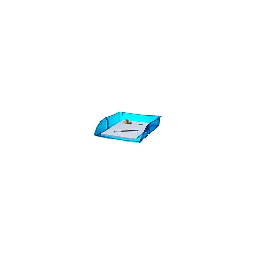 J.Burrows A4 Document Tray Tint Blue 12 Pack