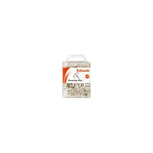 Esselte Drawing Pins White Pk/100