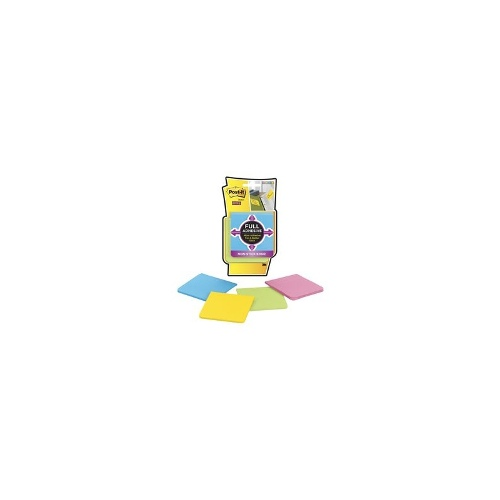 3M Post-It Full Adhesive Notes 76x76mm Ultra Brights 4 Pack