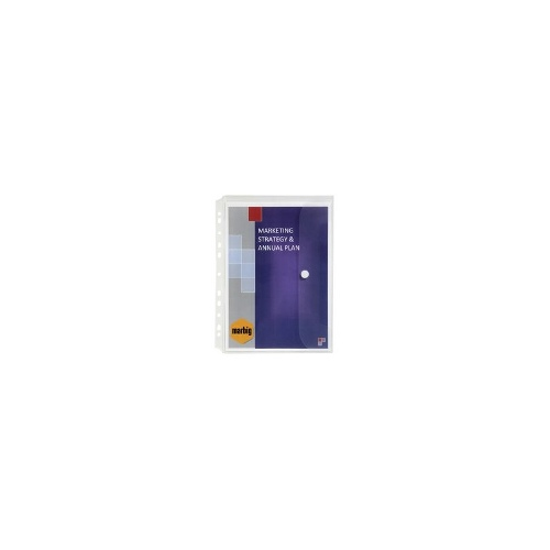 Marbig Binder Wallet A4 Clear 3 Pack