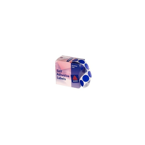 Avery Self Adhesive Round Labels Blue 24mm 500 Pack