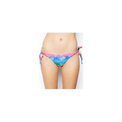 Playful Promises Ombre Palm Tie Side Bikini Brief - Ombre palm