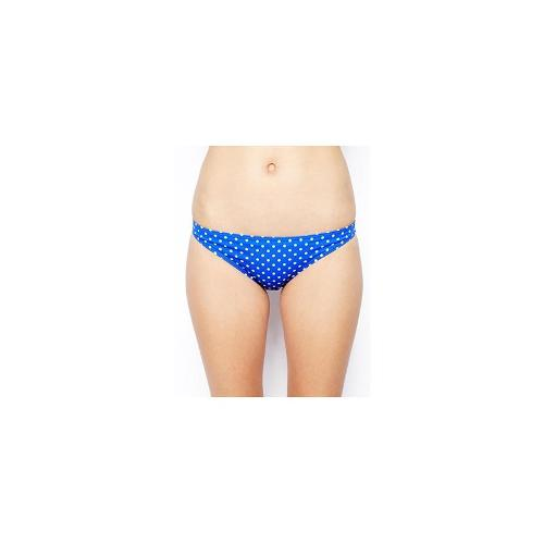 ASOS Mix and Match Spot Hipster Bikini Pant - Oltremare blue/white