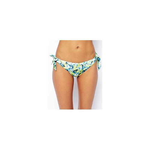 Hoola Betsey Floral Tie Side Bottom - Yellow