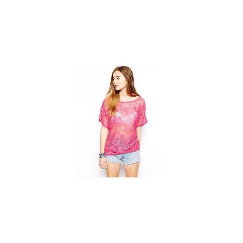 ASOS Lace Beach Cover Up - Fuchsia pink