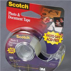 3m Scotch Photo & Document Tape 12.7 Mm X 7.62m X 4