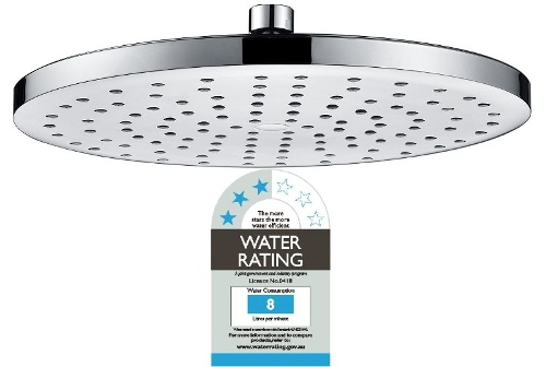 Overhead Rain Shower Head - 260mm Circular Large Chromed