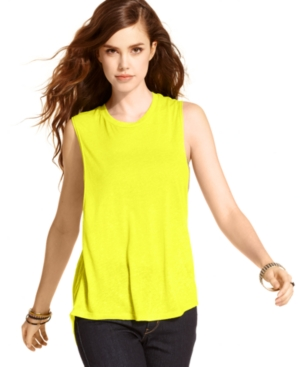 Curious Gypsy Juniors Top, Sleeveless Open-Back Tee