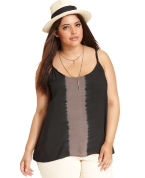 Jessica Simpson Plus Size Top, Sleeveless Tie-Dye Tank