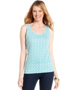 Jones New York Signature Top, Sleeveless Printed Tank