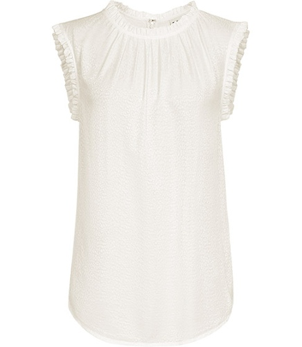 Reiss Mimi FRILL NECK AND SLEEVE TOP
