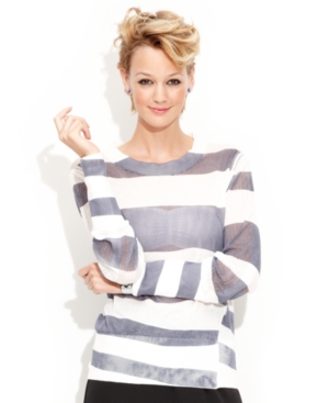 MADE Fashion Week for Impulse Top, Long-Sleeve High-Neck Striped