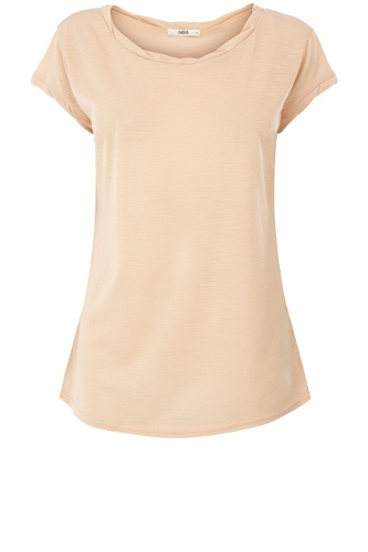 Basic Twist Neck T-Shirt