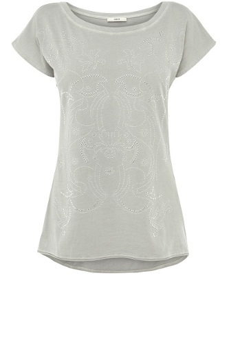 Stud Enzyme Washed T-Shirt
