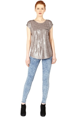 Metallic Knitted Tee