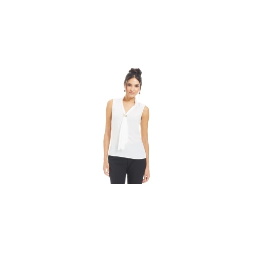 Tahari by ASL Top, Sleeveless Tie-Neck Blouse