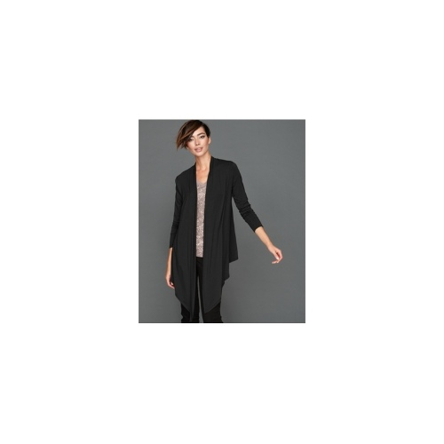 INC International Concepts Cardigan, Long-Sleeve Asymmetrical Open-Front