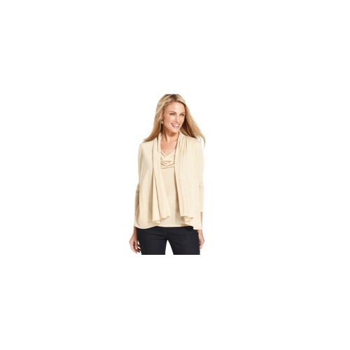 Charter Club Top, Long-Sleeve Cowl-Neck Layered