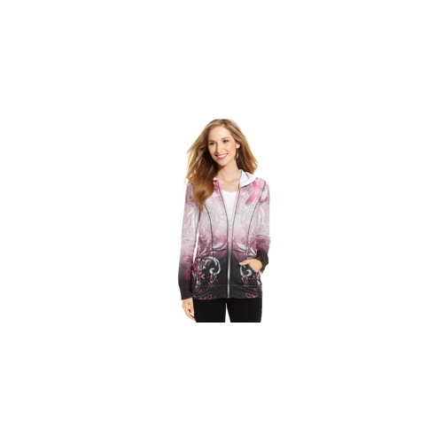 Style&co. Plus Size Jacket, Pink-Ribbon Hoodie