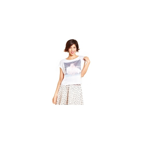 Marilyn Monroe Juniors Top, Short Sleeve Graphic Lace-Back Tee