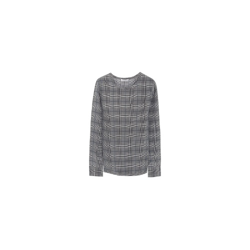Liam houndstooth washed-silk top