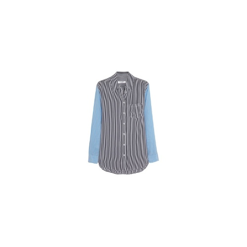 Reese striped washed-silk shirt
