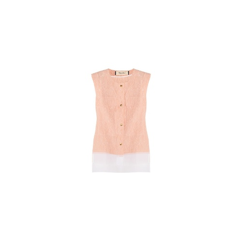 Cotton and silk-blend jacquard top