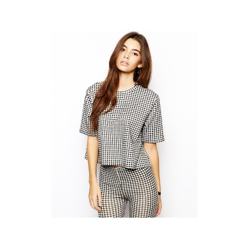 Boxy Crop Top in Gingham